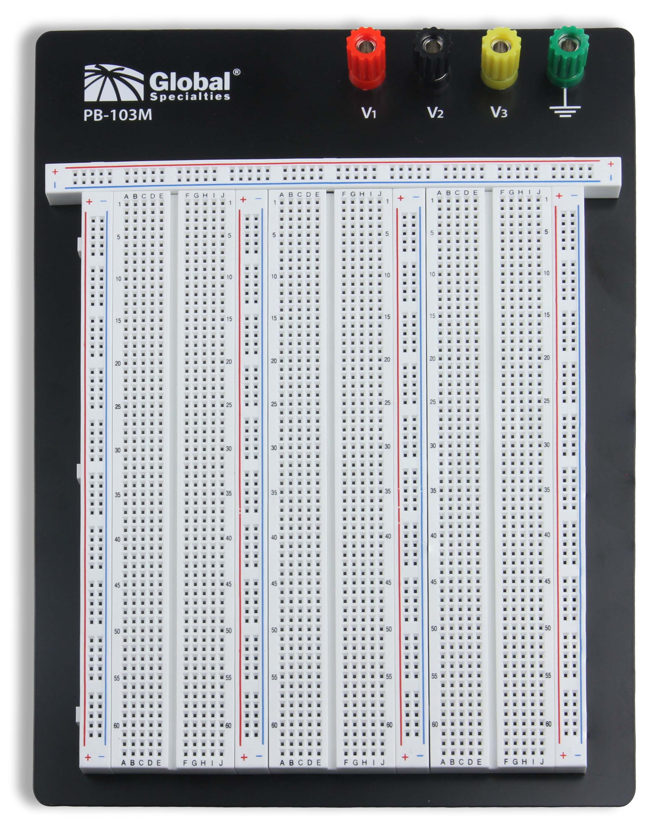 Global Specialties PB-103M Externally Powered 2390 Tie-Point Breadboard