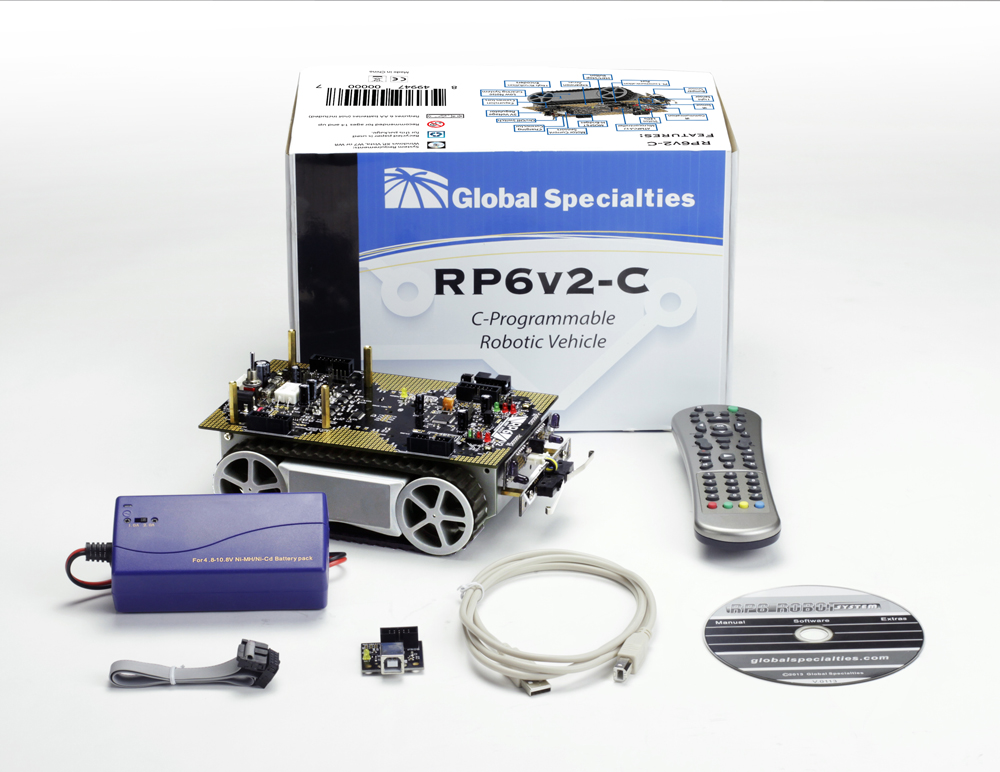 Global Specialties RP6V2-C Autonomous Robotic Vehicle Kit