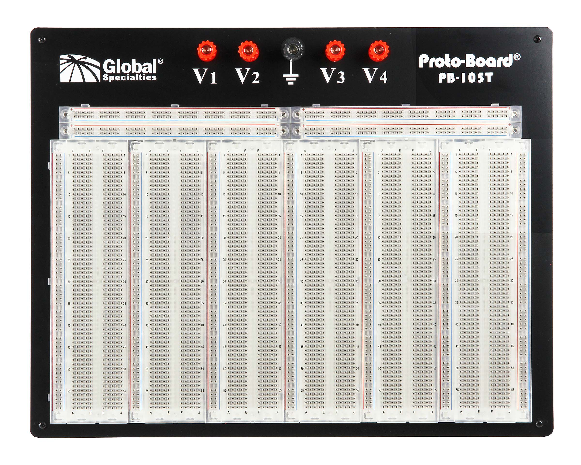 Global Specialties PB-105T Transparent 4880 Tie-Point Breadboard