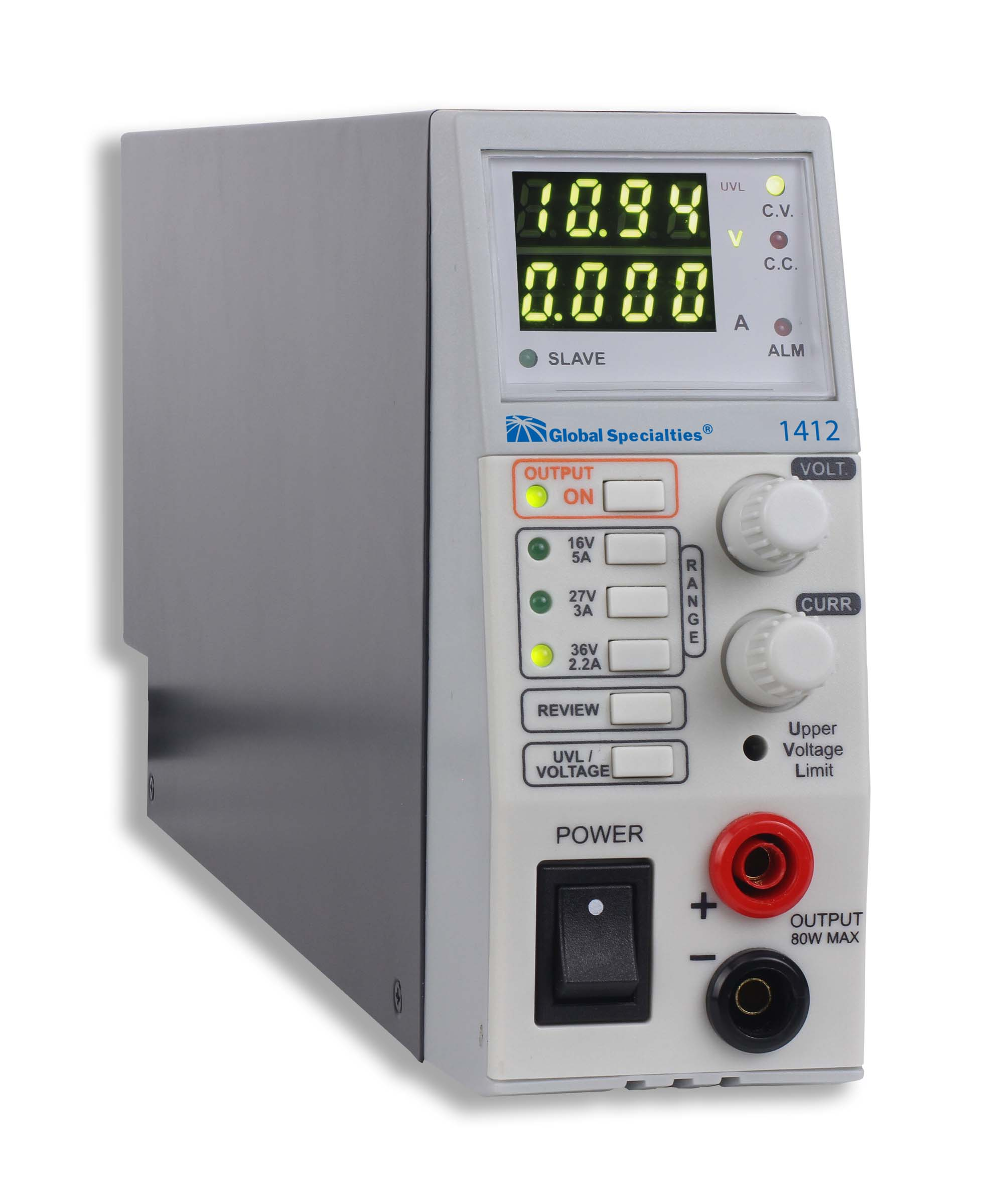 Power Supplies And Control Supply Volt 1412 80 W Triple Range Switching Dc 16v 5a 27v 3a 36v 22a