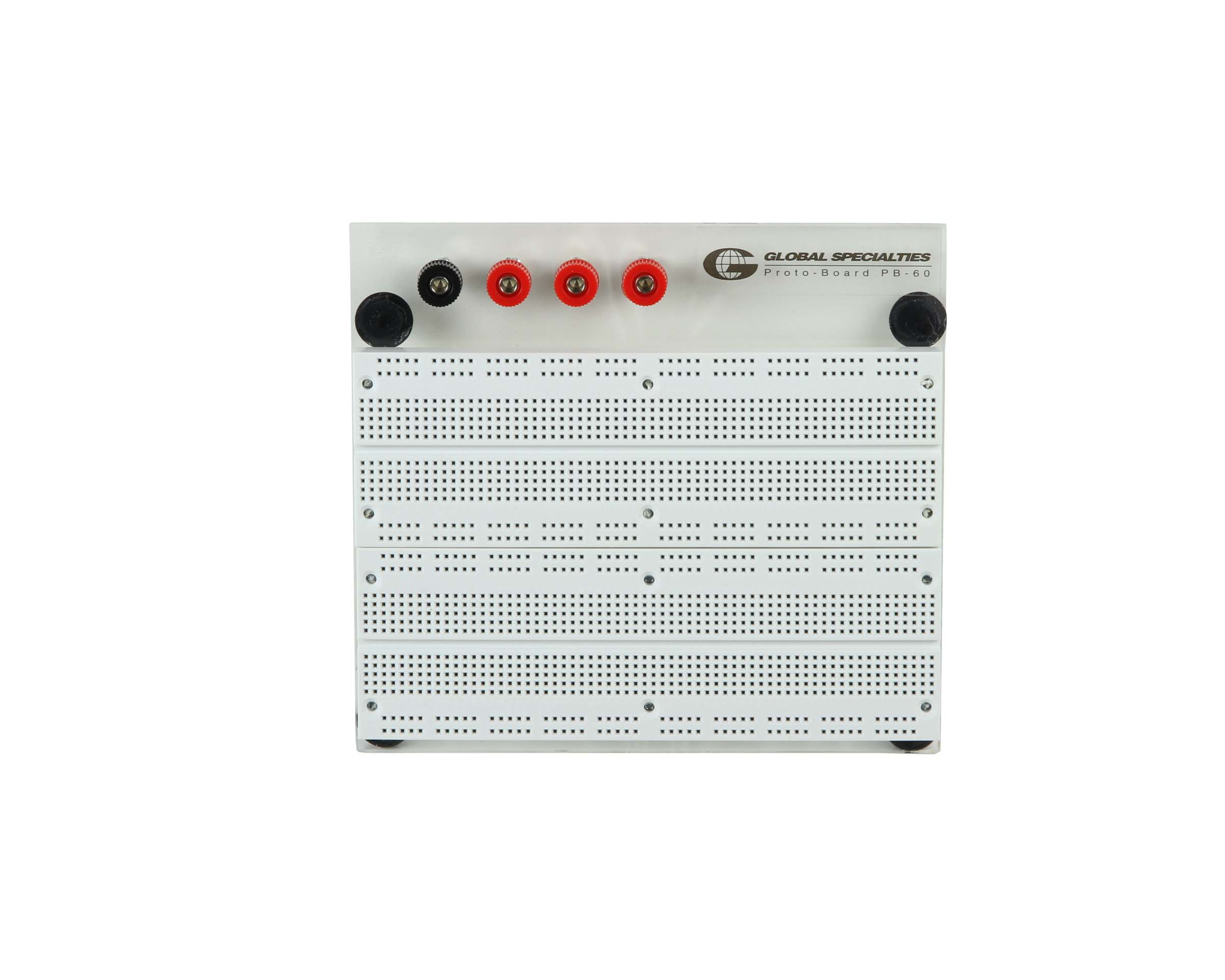 Click to preview image for the Global Specialties PB-60 Externally Powered 1680 Tie-Point Breadboard