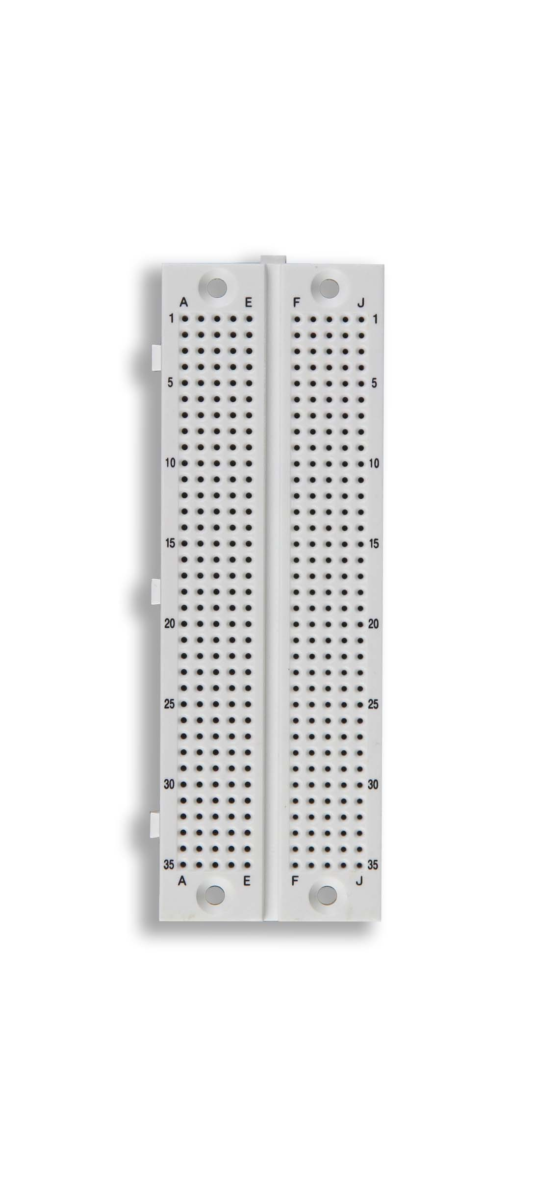 Click to preview image for the Global Specialties GS-351 Solderless Breadboard, 350 Tie-Points
