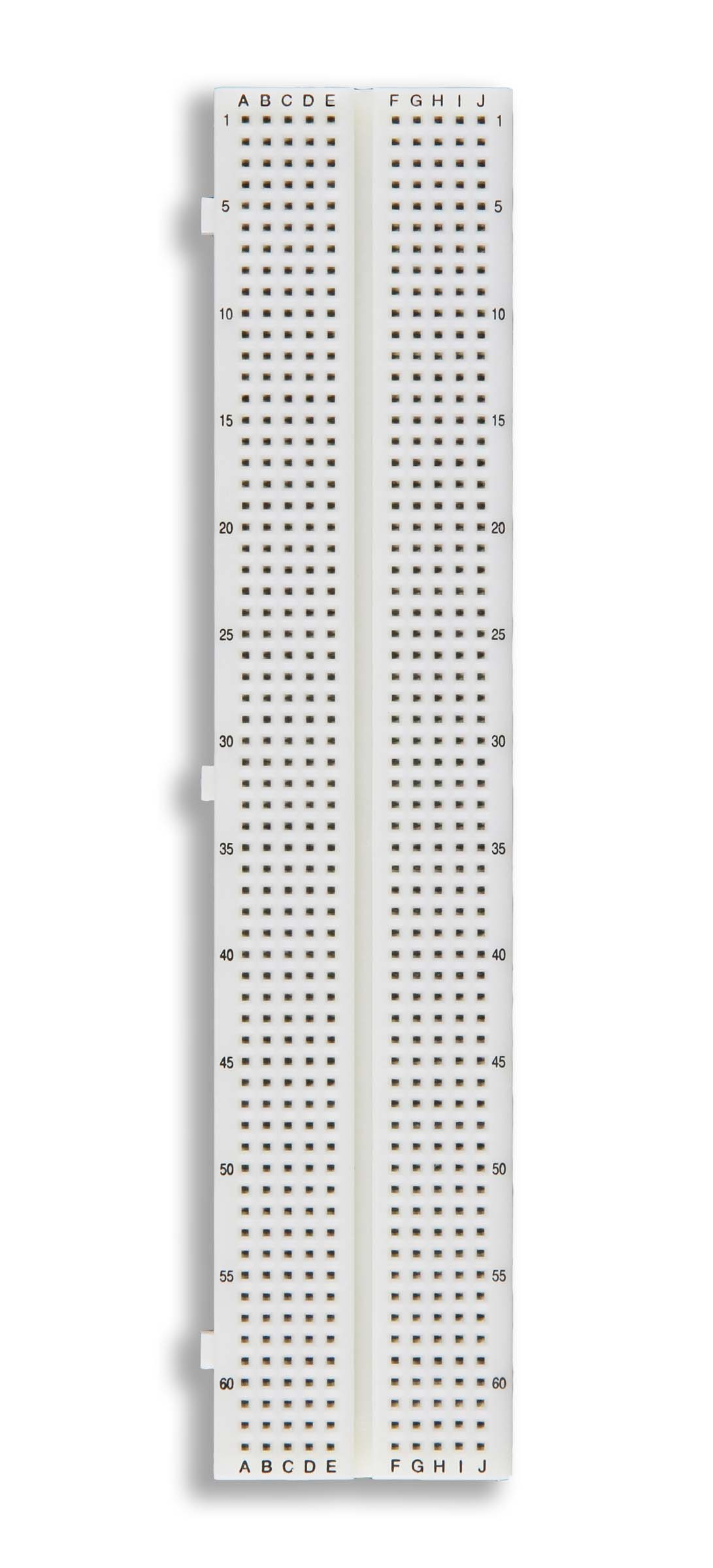Click to preview image for the Global Specialties GS-630 Solderless Breadboard, 630 Tie-Points