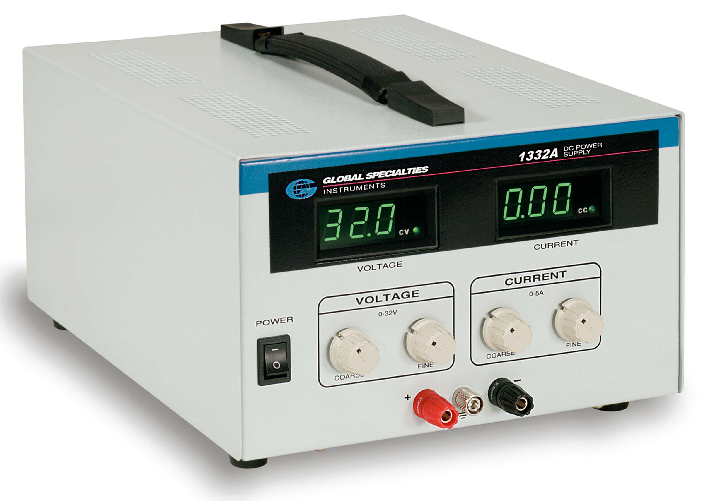 Click to preview image for the Global Specialties 1332A DC Power Supply: 0-32V, 0-5A