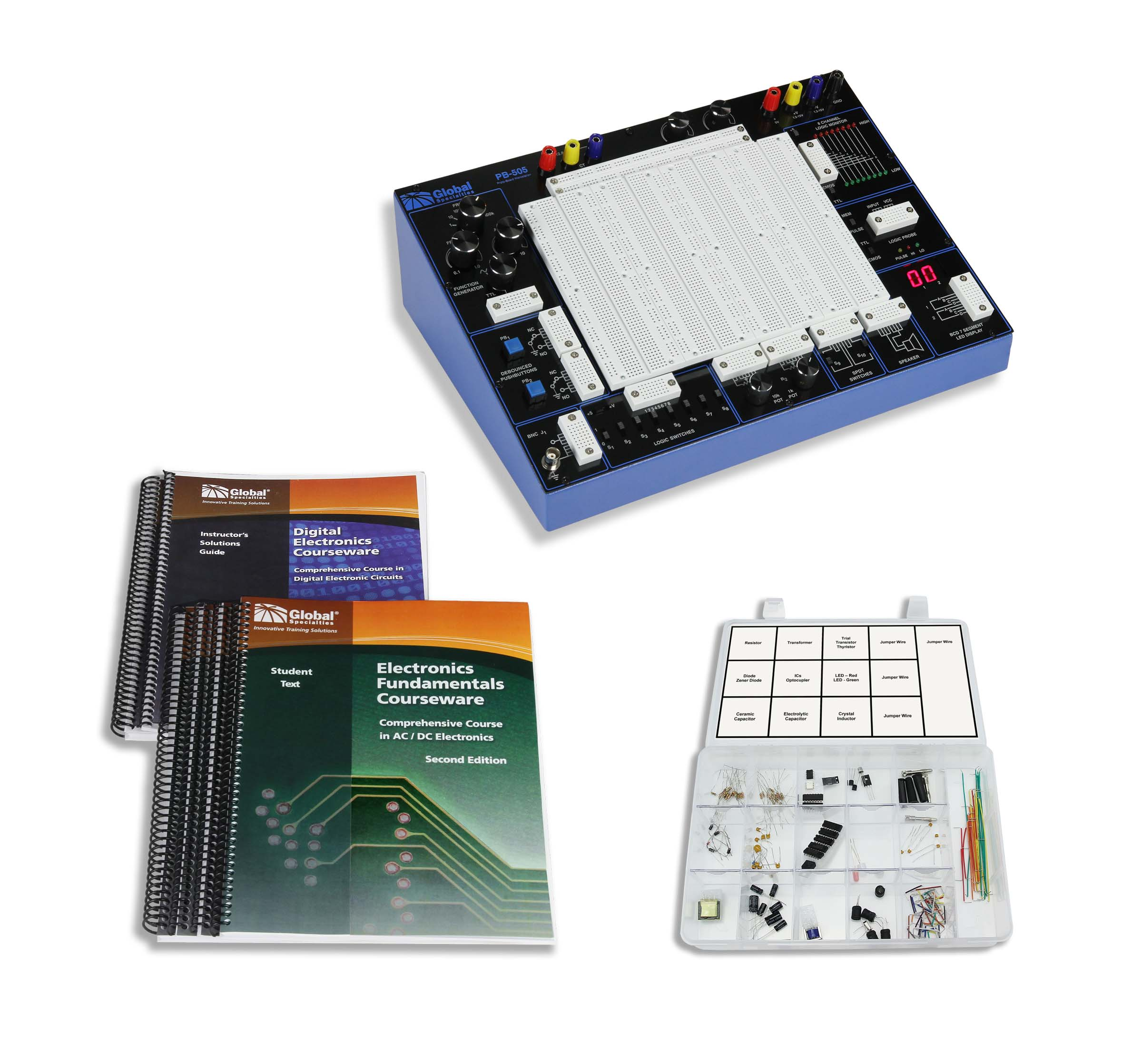 Global Specialties PB-505LAB PB-505 Plus Courseware & Kit Photo