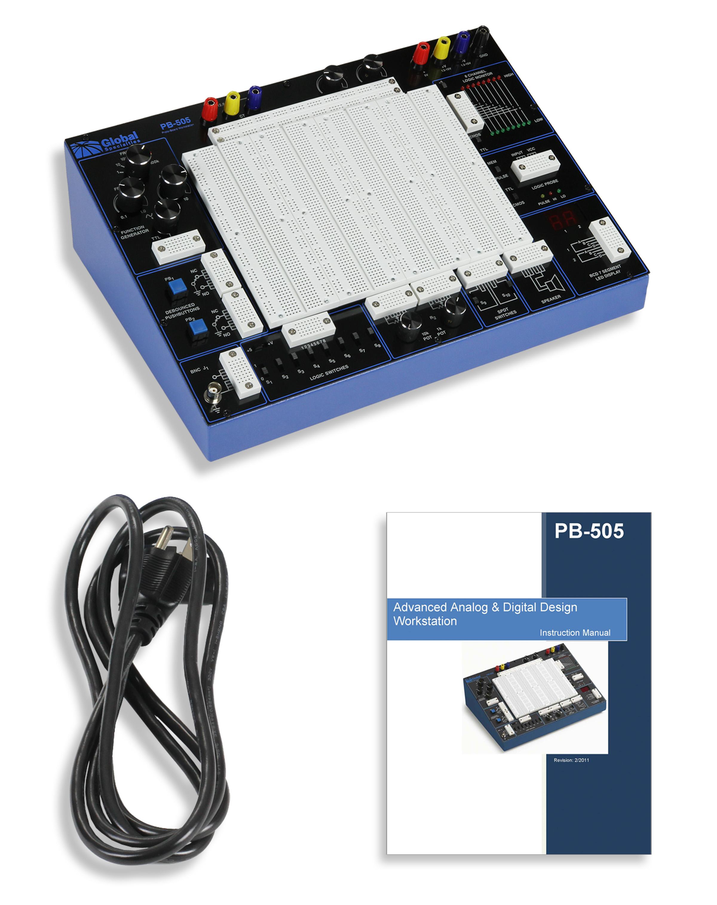 Global Specialties PB-505LAB PB-505 Plus Courseware & Kit Photo