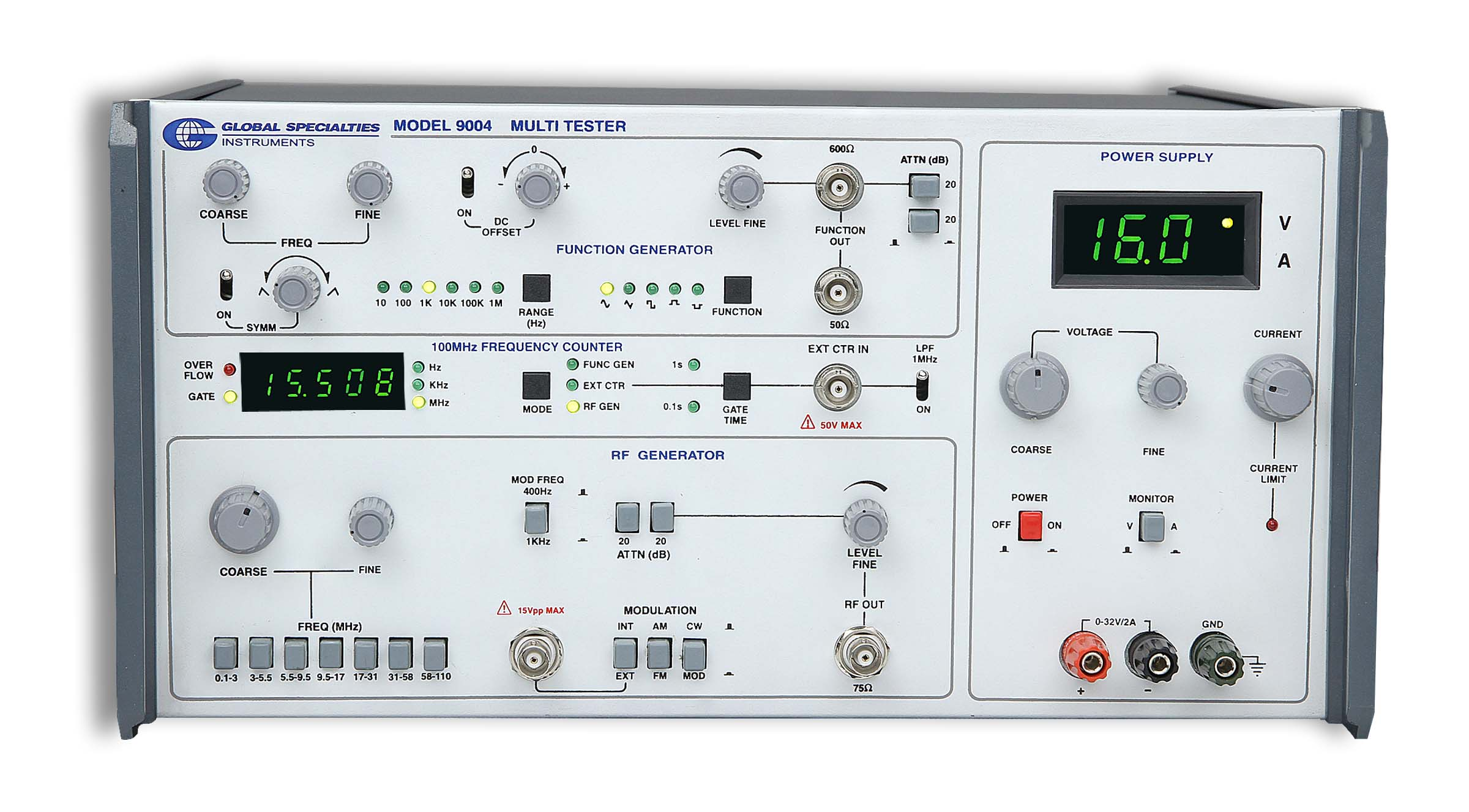 Global Specialties 9004 4-Instrument Test Station Photo