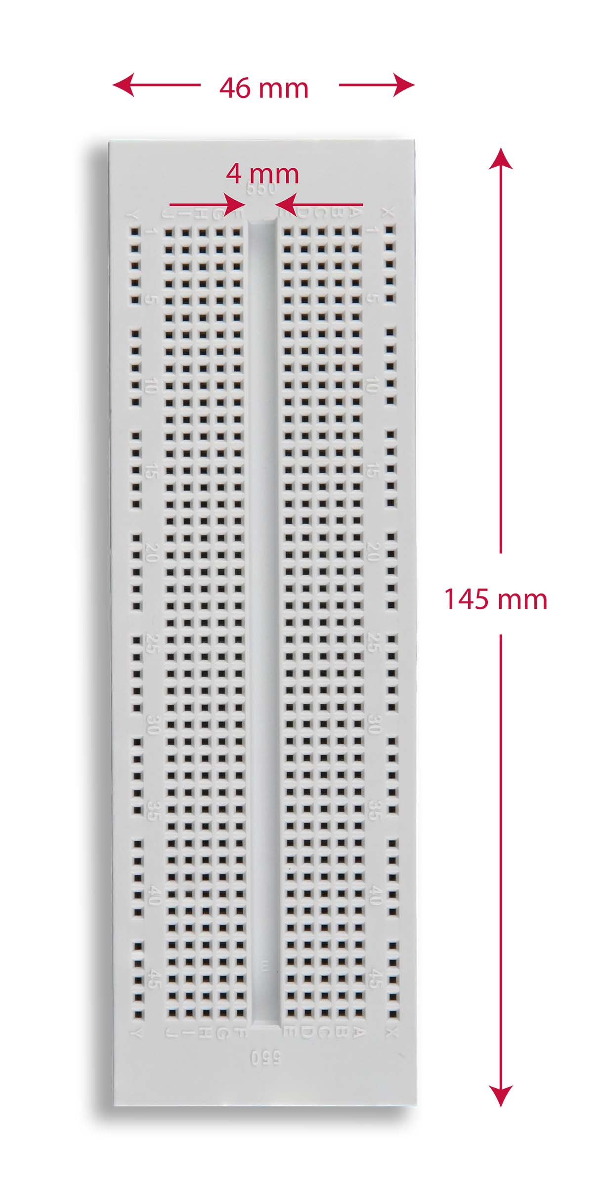 Global Specialties EXP-300E Solderless Breadboard, 550 Tie-Points Photo