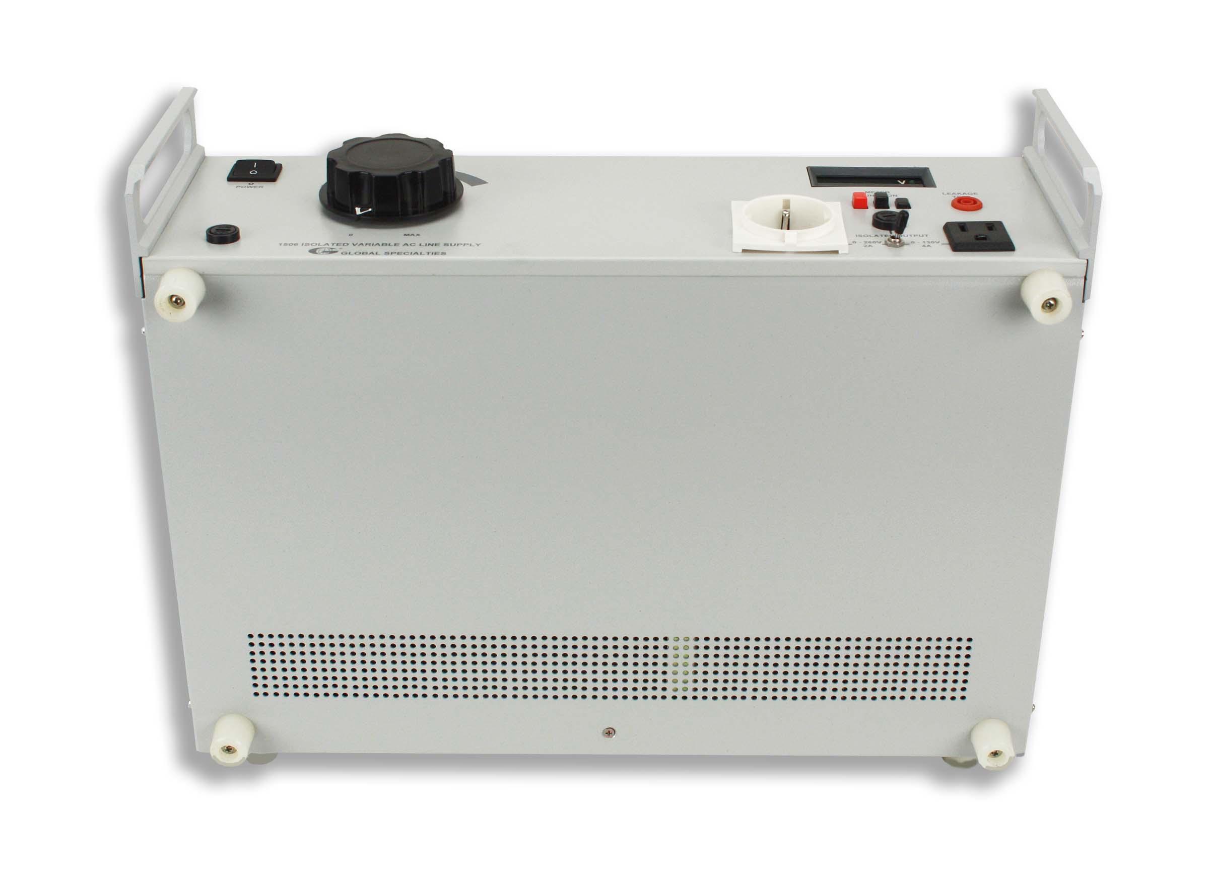 Global Specialties 1506 Dual Output Variable AC Power Supply: 0-130V, 4A & 0-260V, 2A Photo