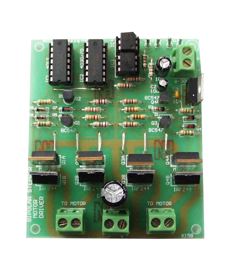 Global Specialties GSK-187 Bi-Polar Chopper Stepper Motor Driver Kit Photo