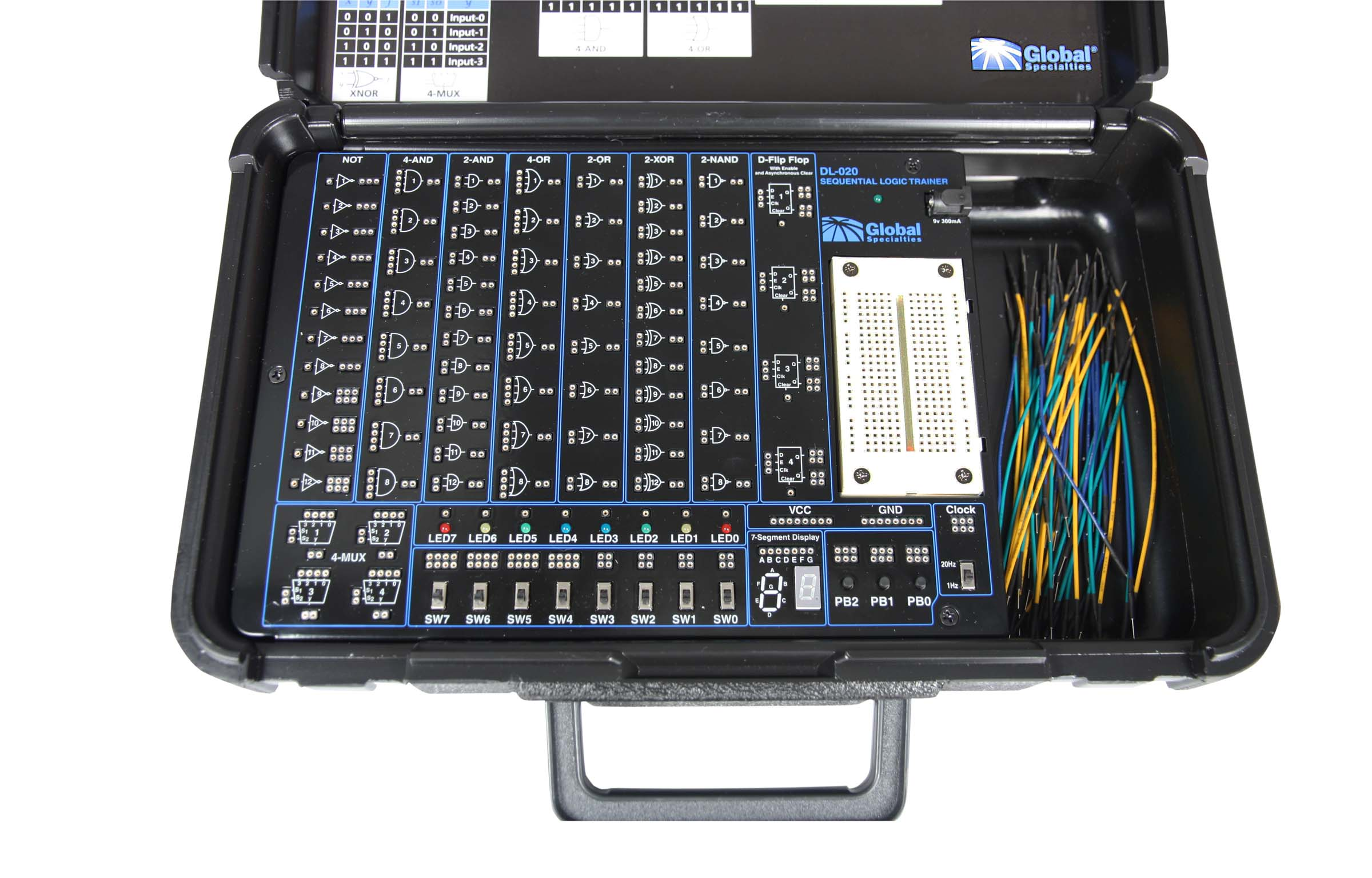 Global Specialties DL-020 Sequential Logic Trainer Photo