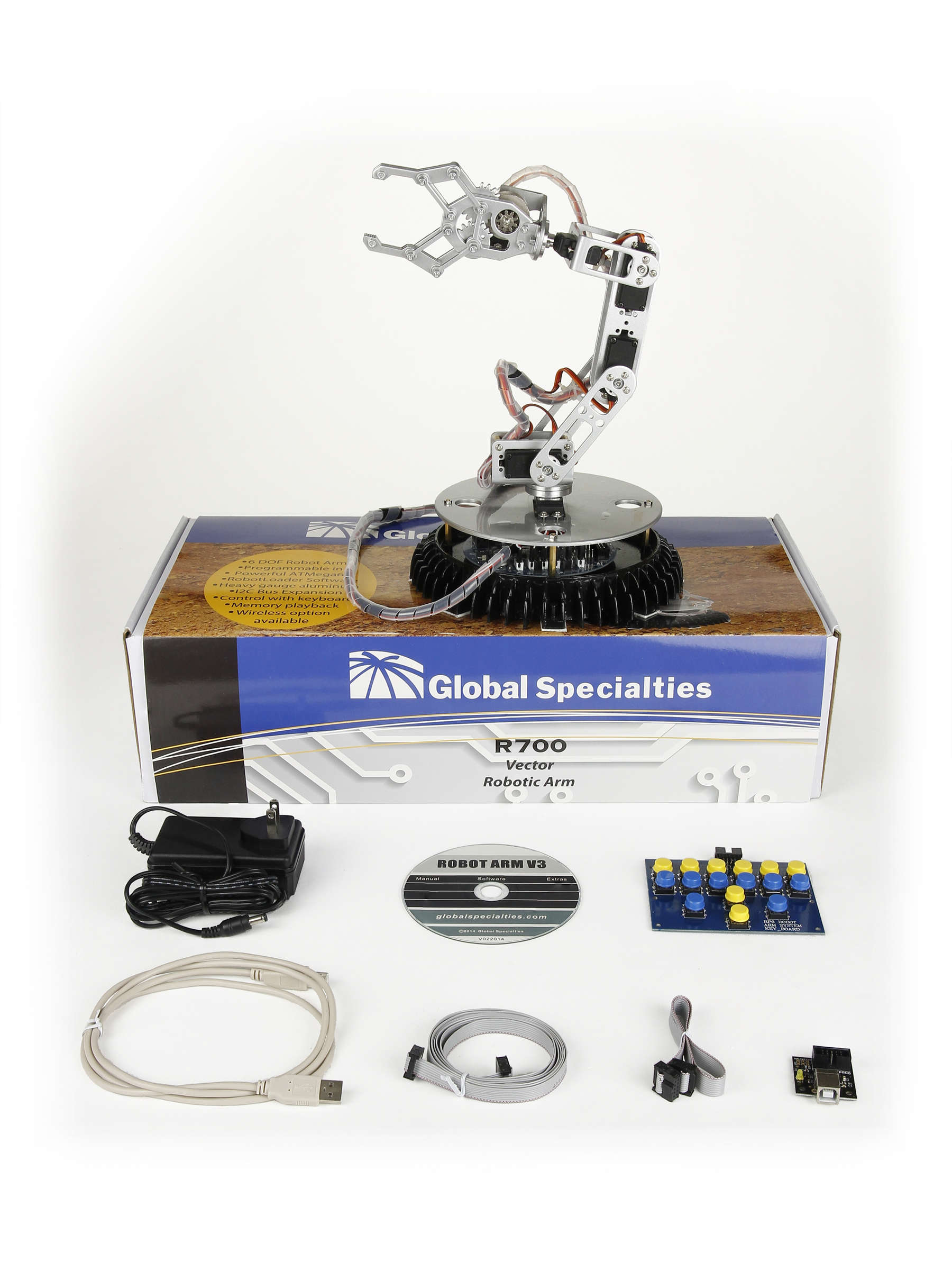 Global Specialties R700 Vector Robotic Arm Photo
