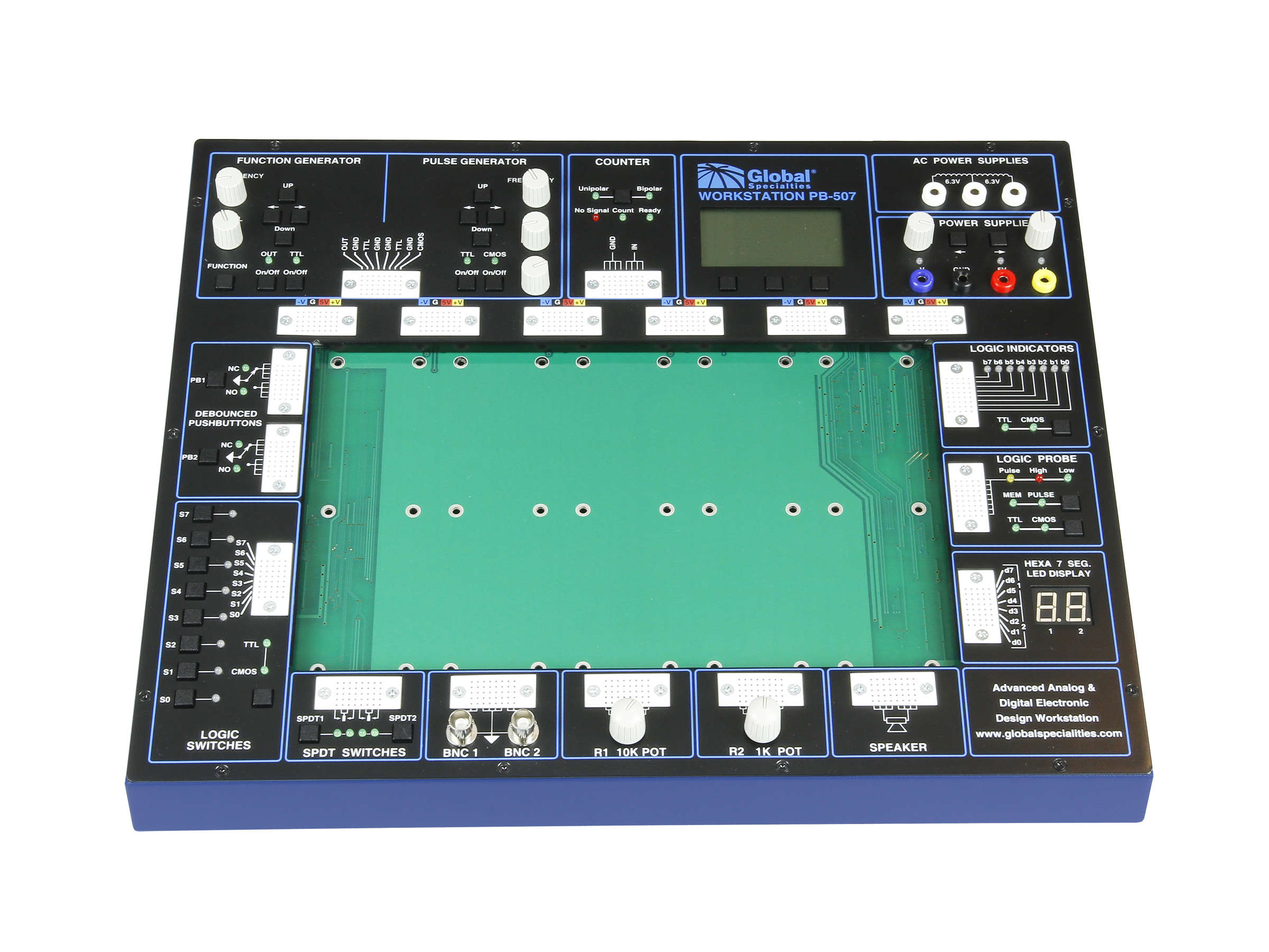 Global Specialties PB-507 Advanced Analog & Digital Electronic Design Trainer Photo