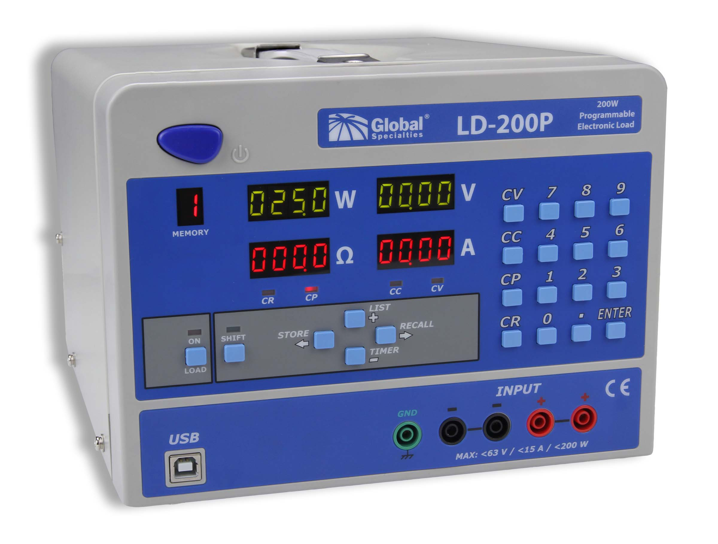 Global Specialties LD-200P 200 W Programmable Electronic Load  Photo