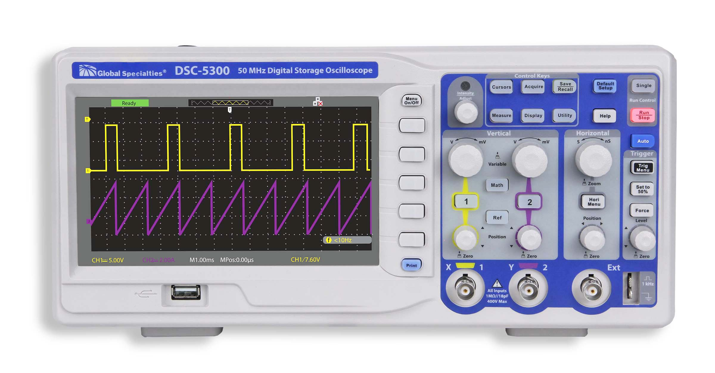 Global Specialties DSC-5300 50 MHz Digital Storage Oscilloscope Photo