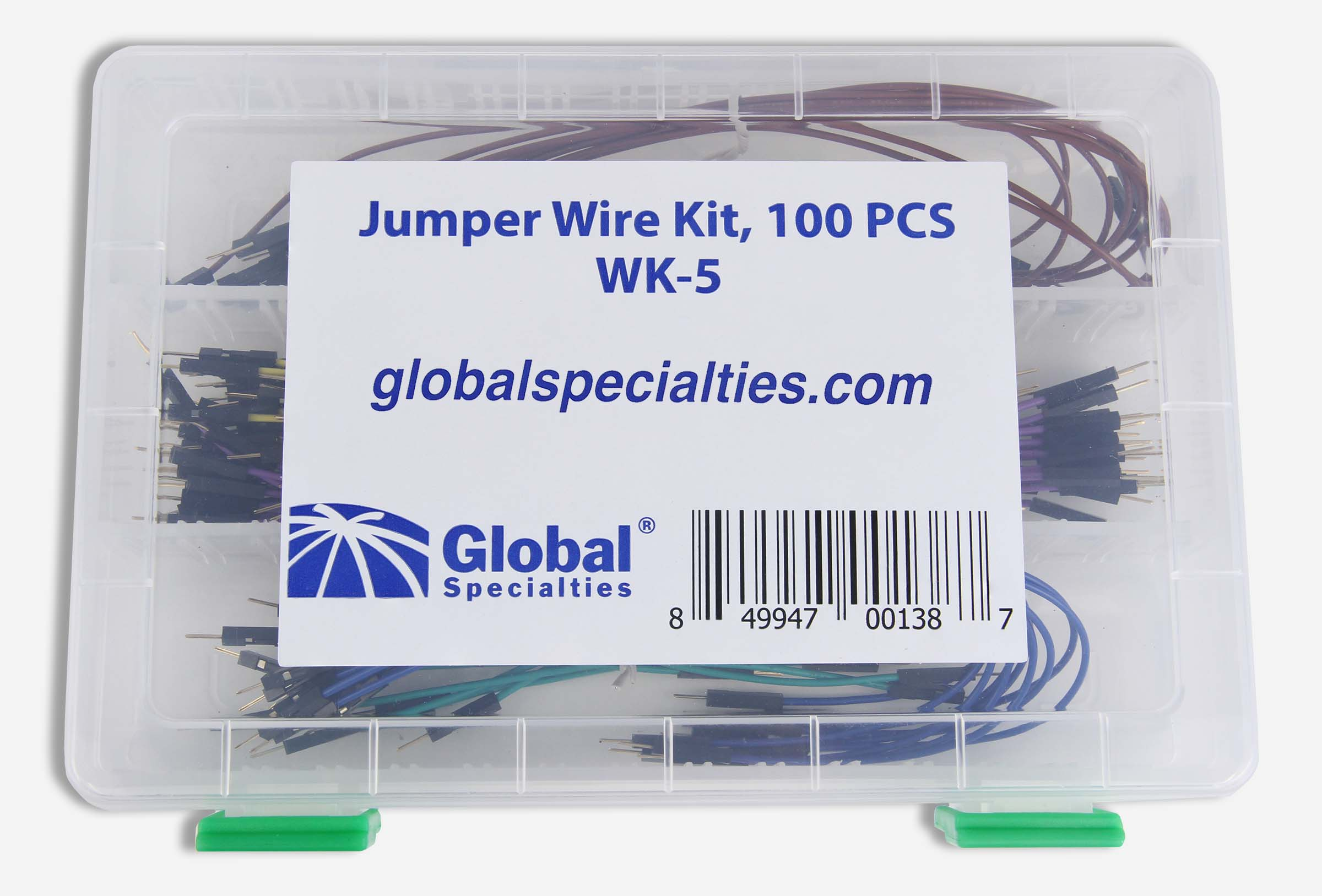 Global Specialties WK-5 Jumper Wire Kit, 100 Pcs Photo
