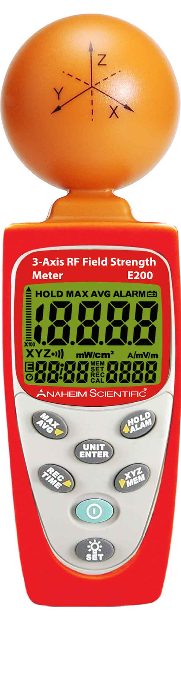 Global Specialties E200 3-Axis RF Field Strength Meter Photo