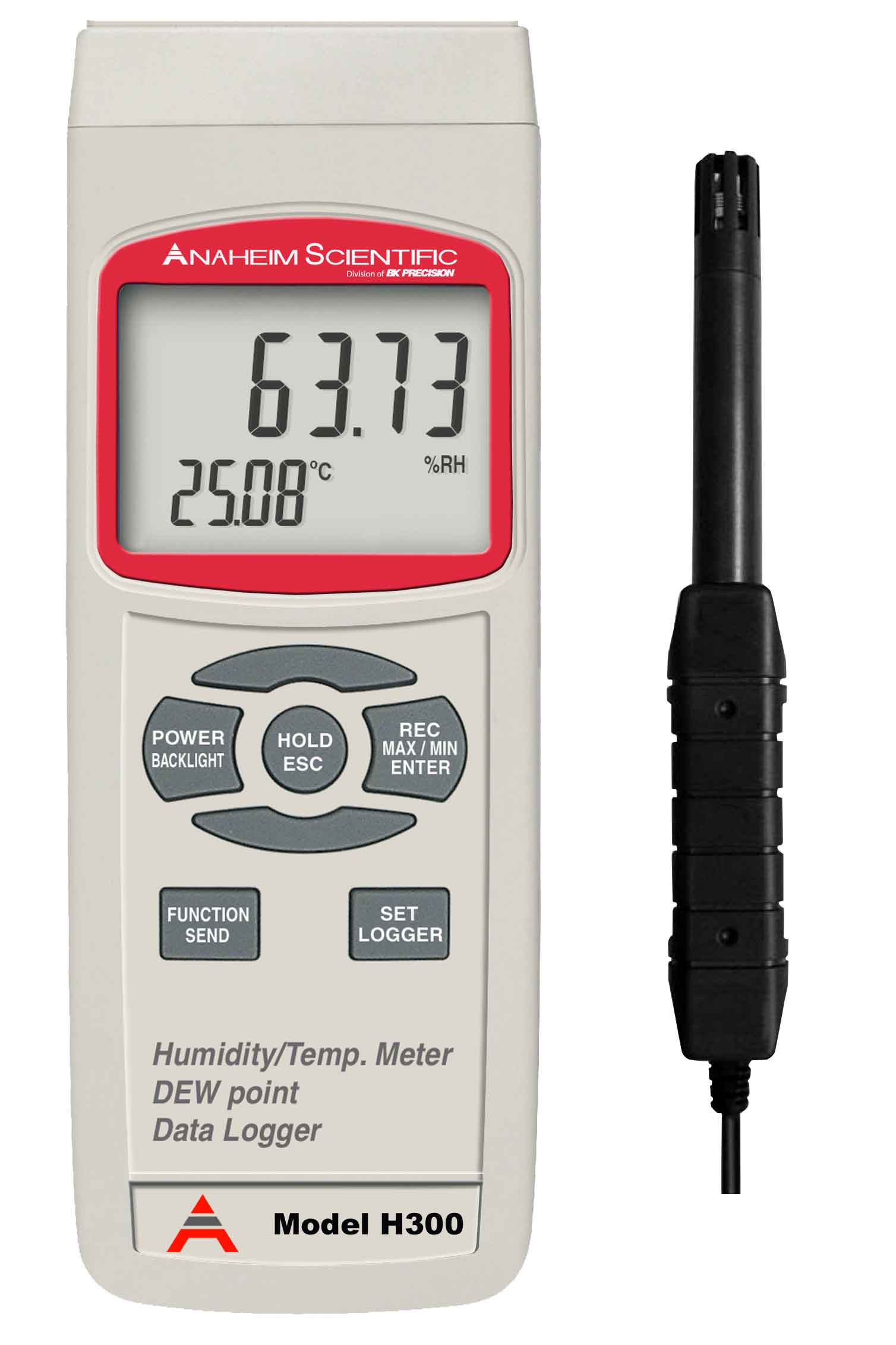 Global Specialties H300 Humidity/Temperature Meter with DEW Point and Data Logger Photo