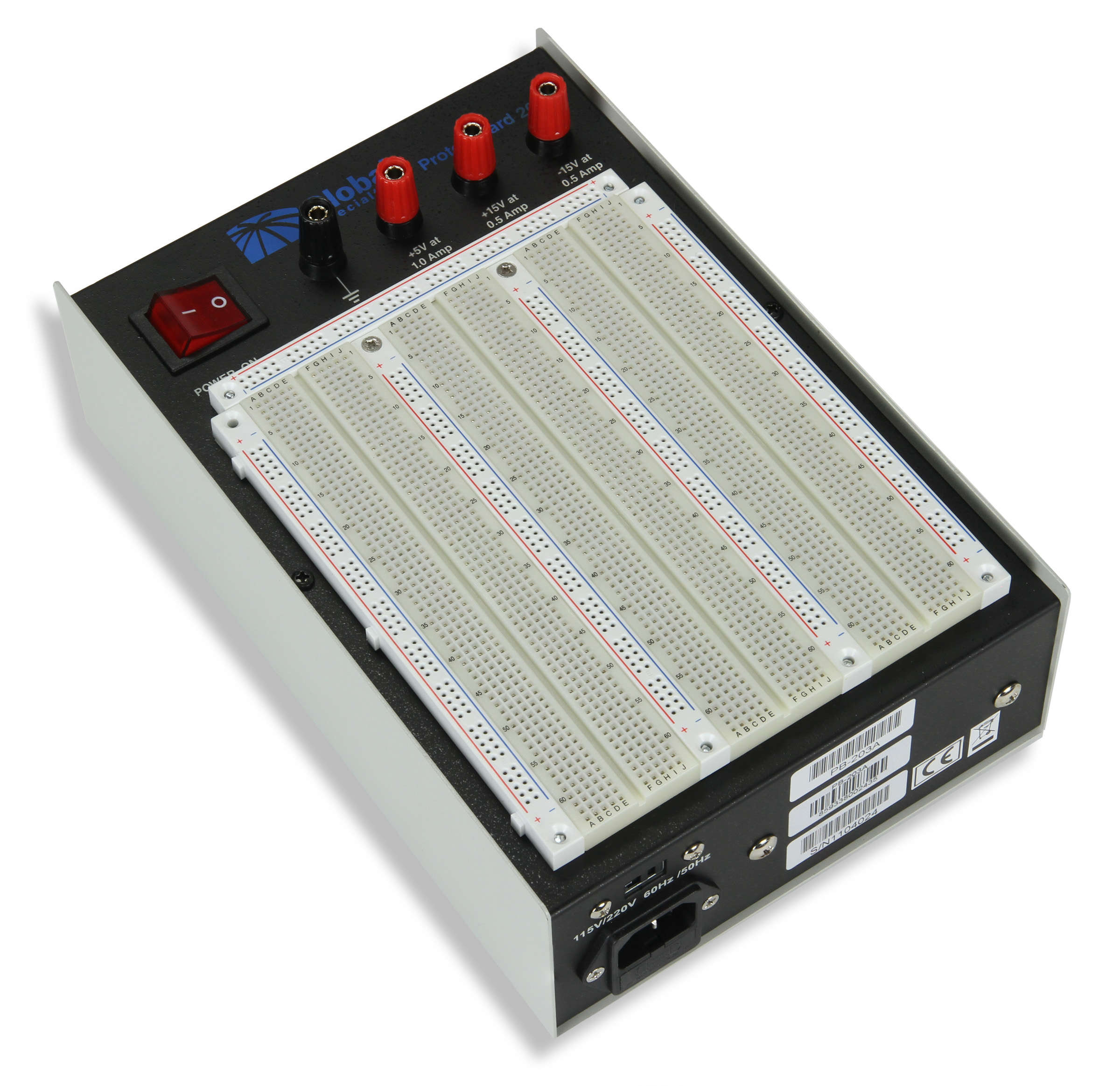 Global Specialties PB-203A Triple Output ±15 V Powered Breadboard Photo