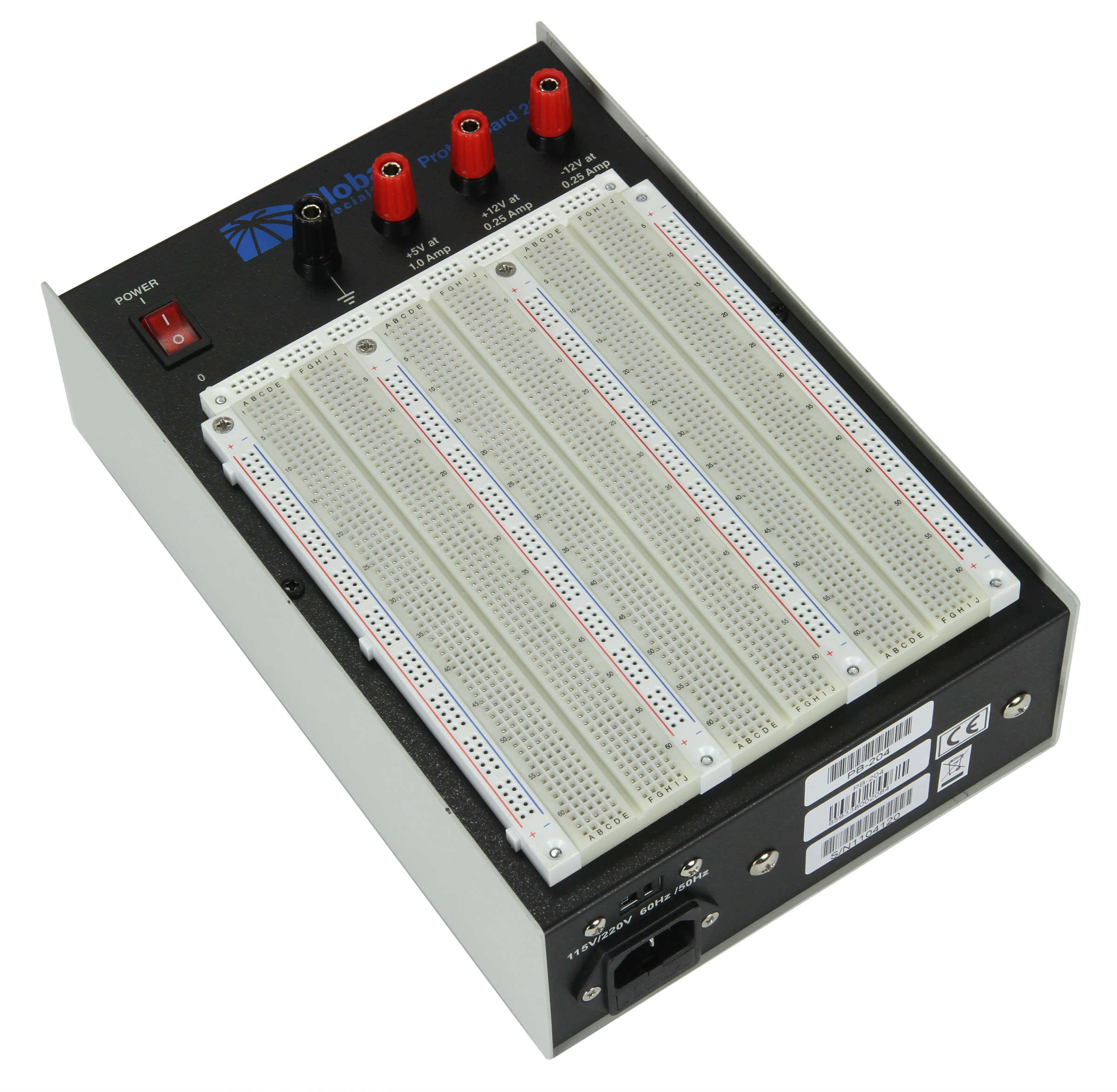 Global Specialties PB-204 Triple Output ±12 V Powered Breadboard Photo