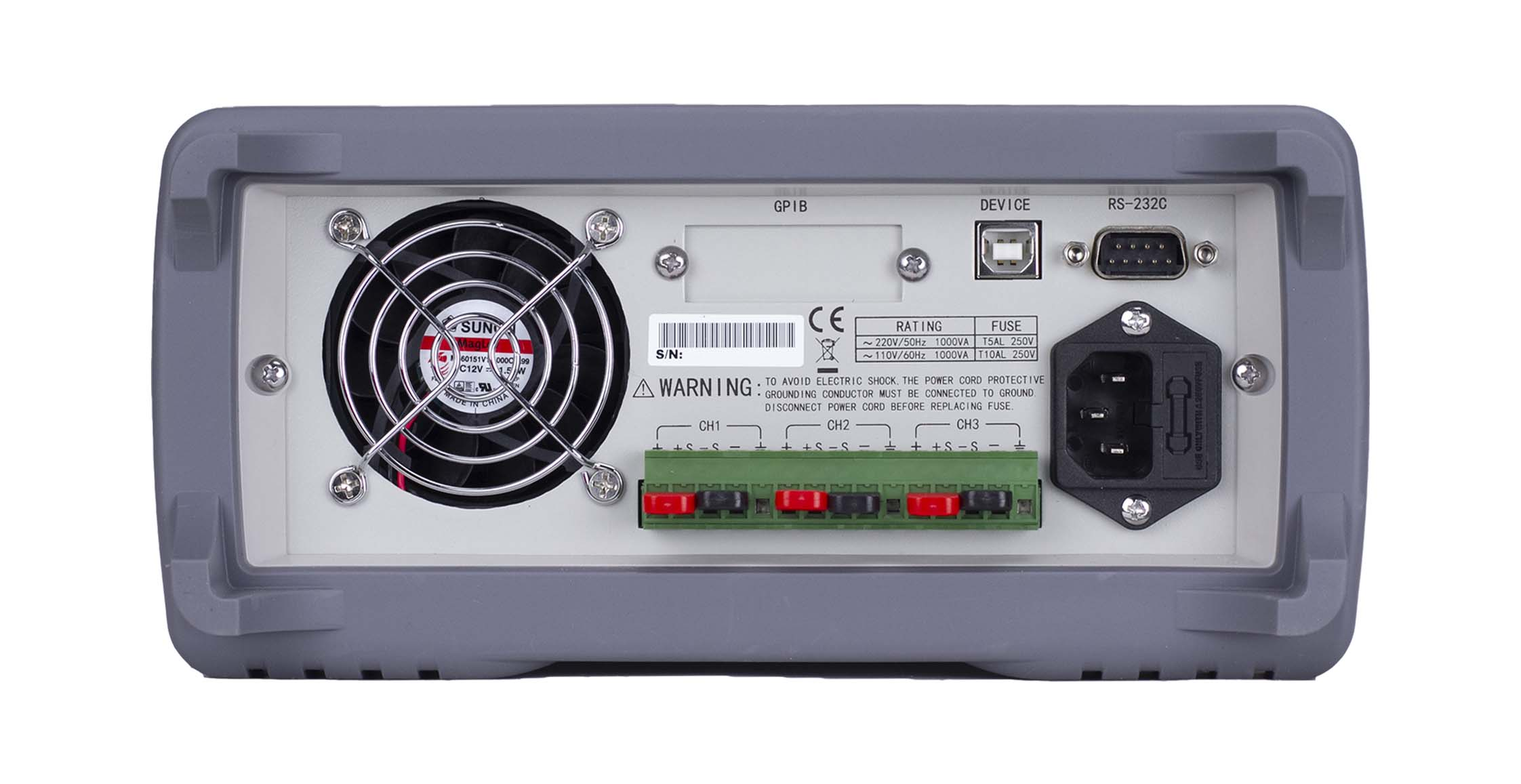 Global Specialties 1369 Triple Output Programmable DC Power Supply: 0-60V, 0-3A (2) & 6V, 5A Photo