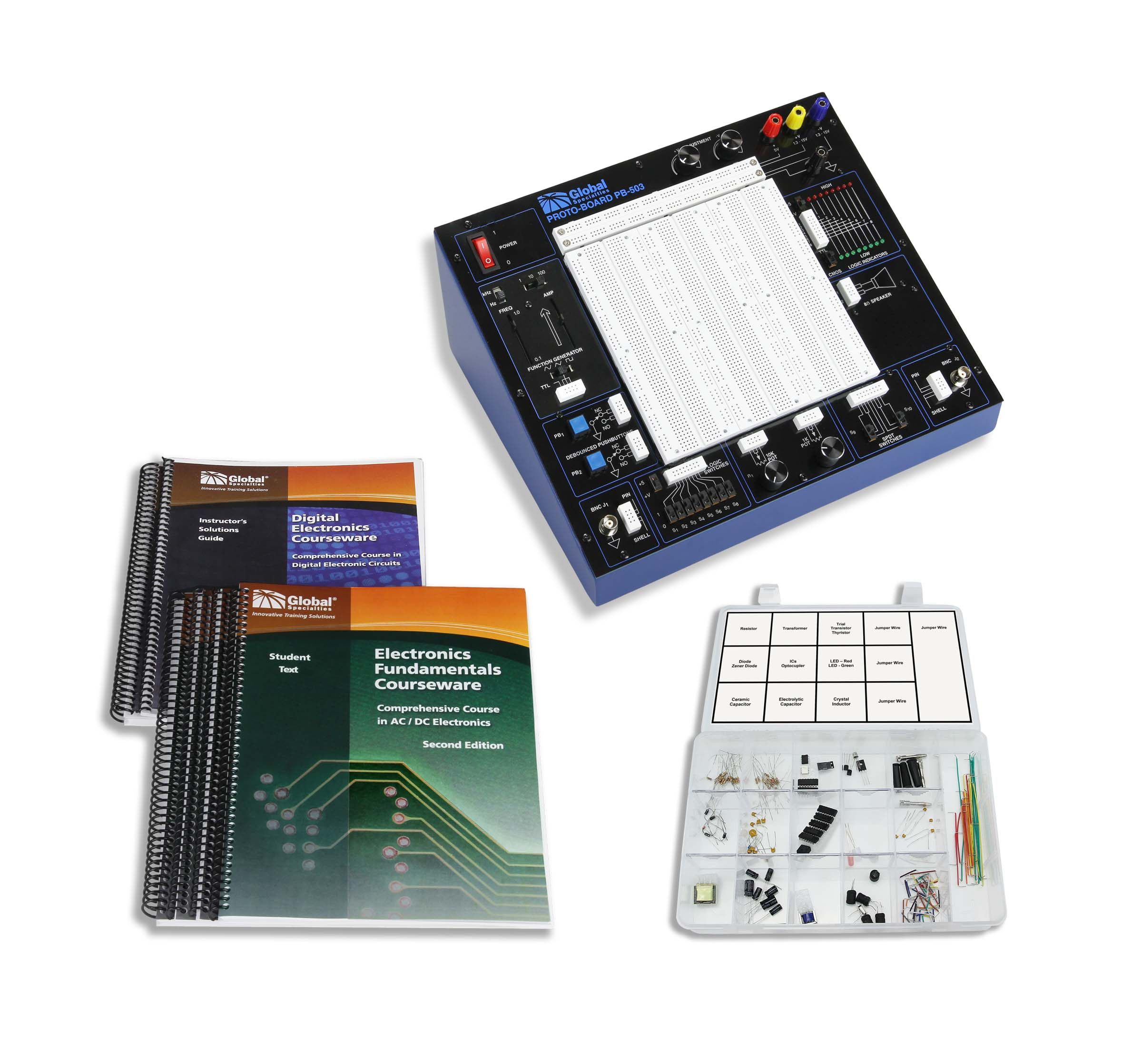 Global Specialties PB-503LAB PB-503 Plus Courseware & Kit Photo